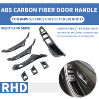 Right Hand Drive RHD Car Carbon Fiber ABS For BMW 5 series F10 F11 F18 Interior Inner Door Pull Handle Trim Cover Panel 520 525