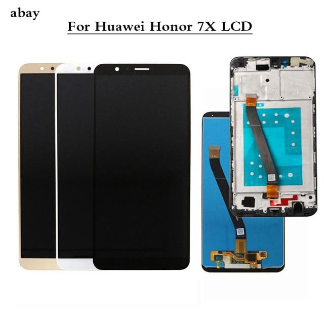 화웨이 명예 7X LCD 디스플레이 터치 스크린 테스트 디지타이저 어셈블리 교체 스크린 화웨이 Honor7X BND AL10 BND L21/L22 들어