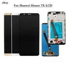 Huawei社の名誉 7X lcdディスプレイタッチスクリーンデジタイザアセンブリの交換huawei社Honor7X BND AL10 BND L21/L22