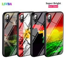 Black Cover kurdistan flag for iPhone X XR XS Max for iPhone 8 7 6 6S Plus 5S 5 SE Super Bright Glossy Phone Case black cover japanese samurai for iphone x xr xs max for iphone 8 7 6 6s plus 5s 5 se super bright glossy phone case