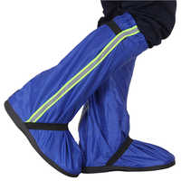 Men Women Long Bike Cycling Reusable Protectors Waterproof Shoe Cover Reflective Tape Non Slip Thick Bottom Adults Oxford Cloth