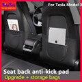Коврик для заднего сиденья автомобиля Tesla, кожаный защитный коврик для 3 задних сидений