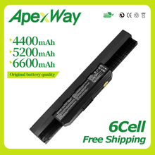 Apexway 6cell laptop battery A32-K53 for For ASUS a32 k53 K53SV K53 K53B K53BY K53E K53F K53J K53S K53SD K53SJ x54h k53t new laptop screen led lcd video flex cable for asus k53e k53 x53 x53e a53e a53s k53s k53sv k53sd k53sj x551 x551m x551c x551a