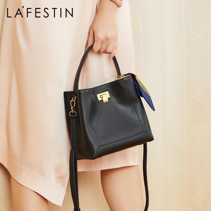 Bagaj ve Çantalar'ten Üstten Saplı Çanta'de LA FESTIN 2019 Yeni moda kova çanta lüks çanta kadın çanta tasarımcısı basit omuz çantası büyük kapasiteli askılı çanta'da  Grup 1