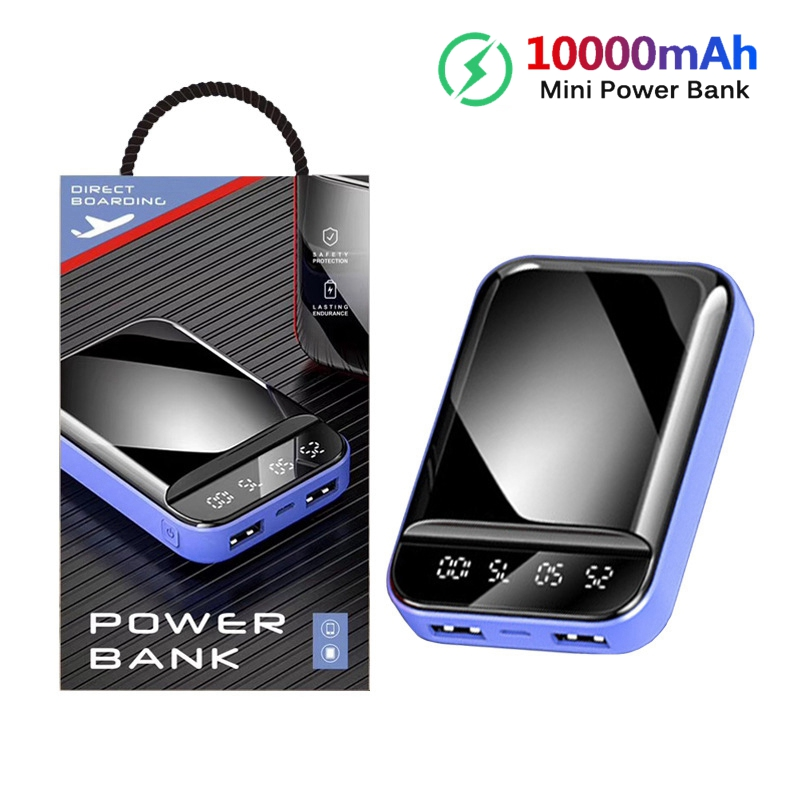 10000mAh Mini Power Bank Small Portable Charger <font><b>10000</b></font> mAh Powerbank For iPhone Xiaomi Samsung External Battery Poverbank image
