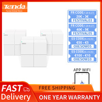Tenda MW6 Nova Whole Home Mesh Wireless WiFi System with 11AC 2.4G/5.0GHz WiFi Wireless Router and Repeater, APP Remote Manage