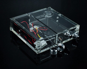 Image 3 - FREEZEMOD full transparent Acrylic PMMA tank single optical drive size computer water cooling tank with thermometer. GQSX D1