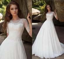 Новое шифоновое свадебное платье трапециевидной формы vestido