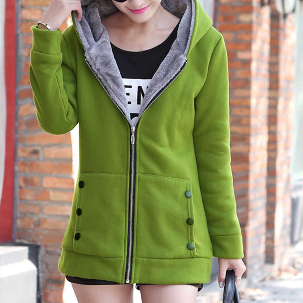 Kobiety moda jesień zima zagęścić sport bawełna płaszcz panie solidna ciepła kurtka z kapturem odzież wierzchnia kobieta wyściełana kurtka płaszcz