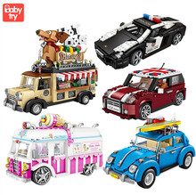 LOZ Technic Mini Building Blocks Vehicle Assemable Educational Toys for Children Police Truck Car Bricks Toys STEM Toy Building loz london tower bridge building bricks diy blocks toy action figure kids educational toys