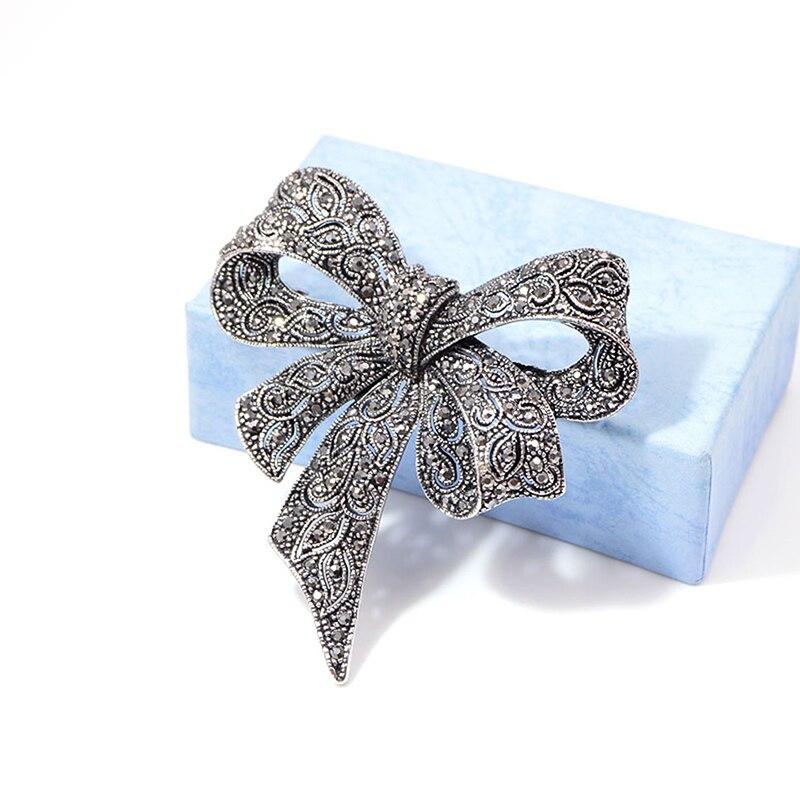 Черный цвет стразы броши «бант» Для женщин большой бант брошь зимний стиль высокое качество Броши подарок|Броши|   | АлиЭкспресс