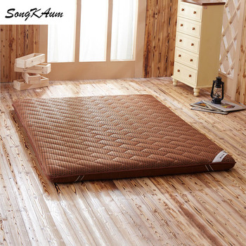 SongKAum 3D 4D Breathable mesh Mattresses Solid color Thicken Single student dormitory Tatami Foldable Mattress King Queen size