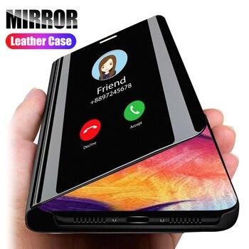 Перейти на Алиэкспресс и купить Умный зеркальный чехол для Huawei Honor 9A 9C 9S 8A 8C 8S 8X 10i 10 20 20S P30 Pro P40 Lite E Y7P Y6P Y5P Y7 Y6 Y5 2019