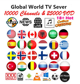Hot Sale IPTV m3u  1 Year for Europe adult french polish Belgium turkish canada portugal UK iptv code Smart TV Android BoX magnum iptv m3u subscription france brazil canada usa indian iptv 1 year turkish european sports iptv free code reseller panel