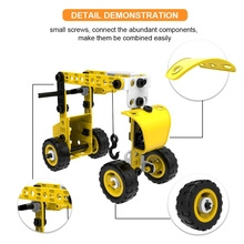 G2AD Intellectual Assembly DIY Toy Children's Construction Vehicle Toy Car, Disassembly and Assembly Nut Engineering Vehicles