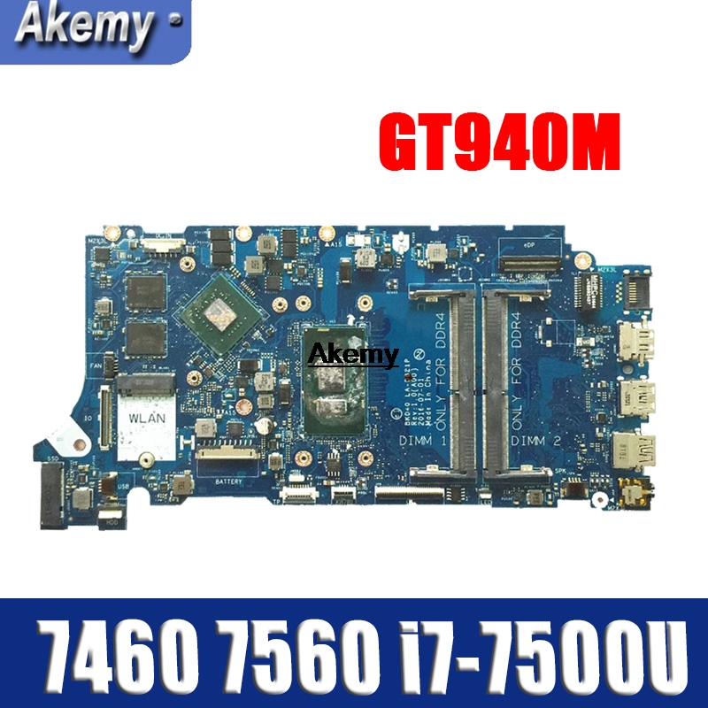 LA-D821P 09WC1G 9WC1G 05 CPRV For Dell INSPIRON 7460 7560 Motherboard BKD40 LA-D821P REV: 1.0 (A00) I7-7500U Testing Work 100%