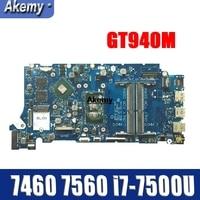 LA D821P 09WC1G 9WC1G 05 CPRV For Dell INSPIRON 7460 7560 motherboard BKD40 LA D821P REV: 1.0 (A00) i7 7500U Testing work 100%