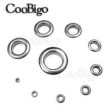 50sets Metal Black Nickel Eyelets with Grommet for Leathercraft Shoe Belt DIY Scrapbooking Cap Bag Tag Clothes Accessories