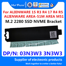 M.2 2280 SSD Plate PCIE NVME NGFF drive cooling vest Bracket For Dell ALIENWARE AREA-51M AREA M51 15 R3 R4 17 R4 R5 3N3W3 03N3W3