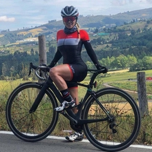 kafitt Thin long sleeve skinsuit 2019 womens cycling jersey road bike clothes triathlon pro team clothing sexy suit jumpsuit