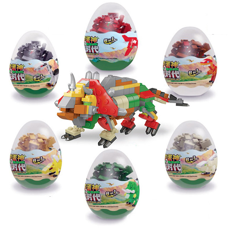Twisting Egg Building Block Childre Toy Children's Dinosaur Twist Egg Assembly Small Particle Assembly To Enhance Intelligence
