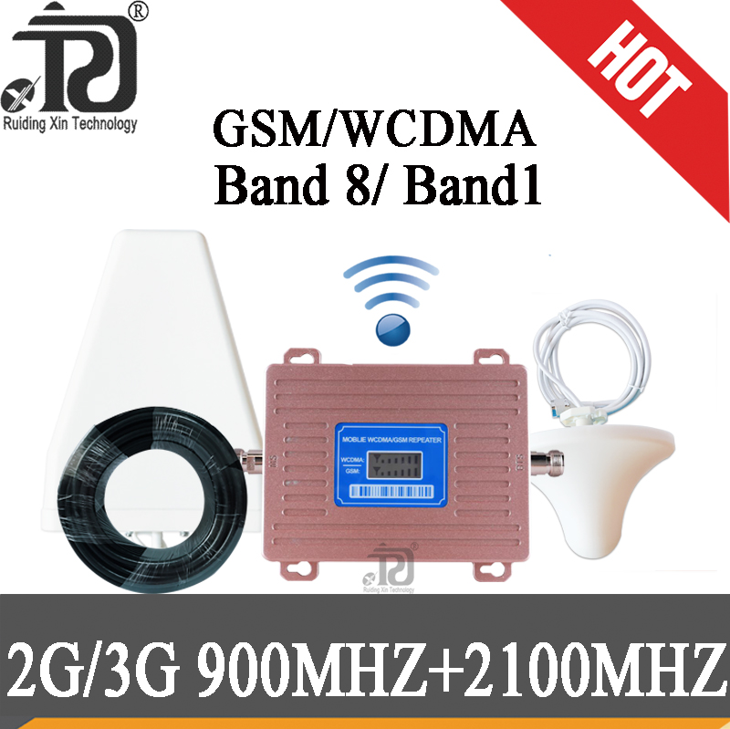 Russia 2G GSM 900 3G 2100 Cell Phone Signal Repeater Cellular Booster GSM WCDMA UMTS 2100 2G 3G 4G Signal Antenna