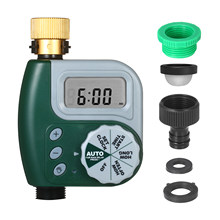 Temporizador de água programável digital jardim gramado torneira temporizador controlador de irrigação automática 1-tomada conector de cobre leakpoof