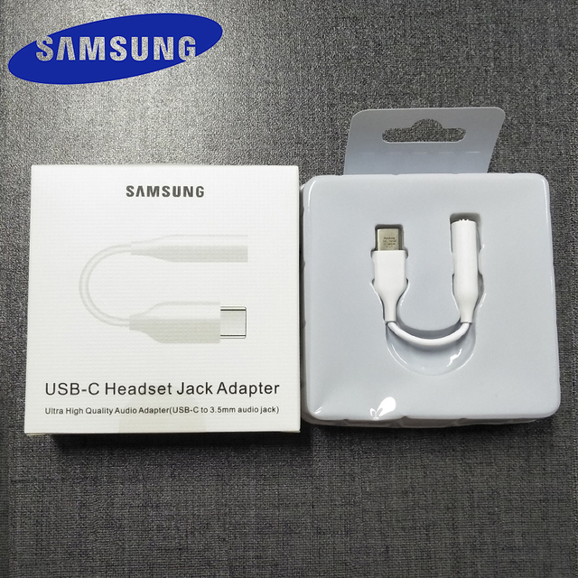 SAMSUNG Type C 3.5 Jack Earphone Cable USB C to 3.5mm AUX Headphones Adapter For SAMSUNG Galaxy Note 10 Plus 10+ A90 A80 A60 A8S 1