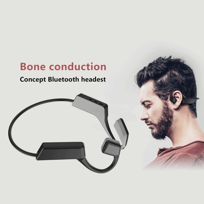K08J Bone Conduction Headphone True Wireless Headset Bluetooth Not In-Ear Earphones Sport Waterproof Ear Hook Long Standby
