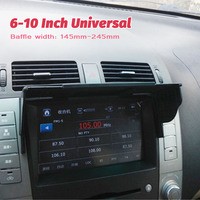 Universal 6 10 Inch Car GPS Navigator Sun Visor Sunshade Hood GPS Navigation Light Cover Barrier Width 145mm 245mm|Vehicle GPS| |  -