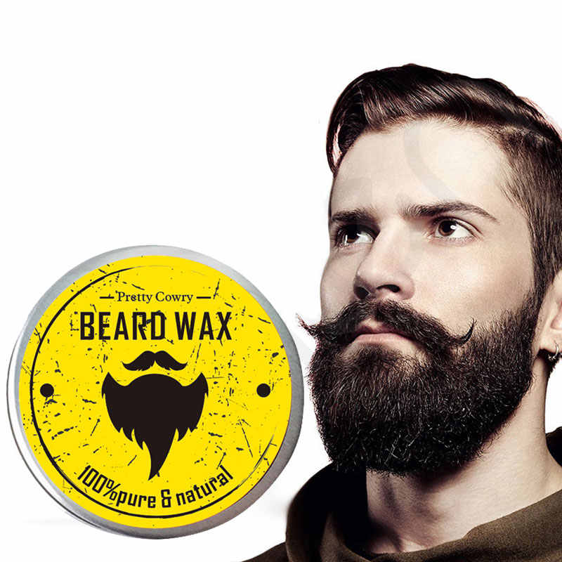 Bellezon huile de barbe naturelle baume Moustache style cire d'abeille hydratant lissage messieurs baume de barbe bio hommes Kit de toilettage