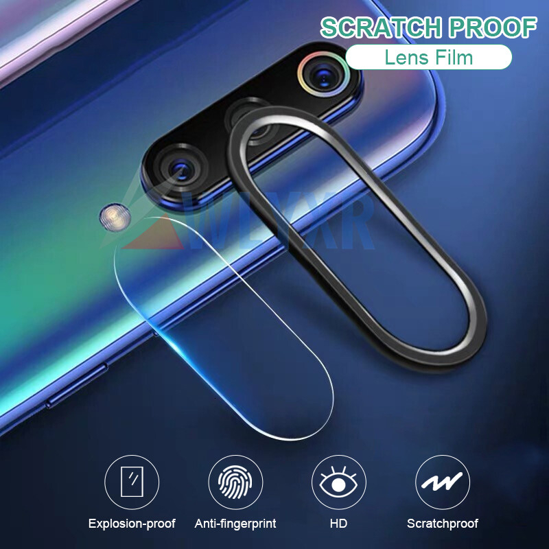 Camera Lens Tempered Glass + Metal Ring For Xiaomi Redmi Note 8 7 K20 Pro Mi Mix 2S CC9E 9T 9 SE A2 Camera Screen Protector Case