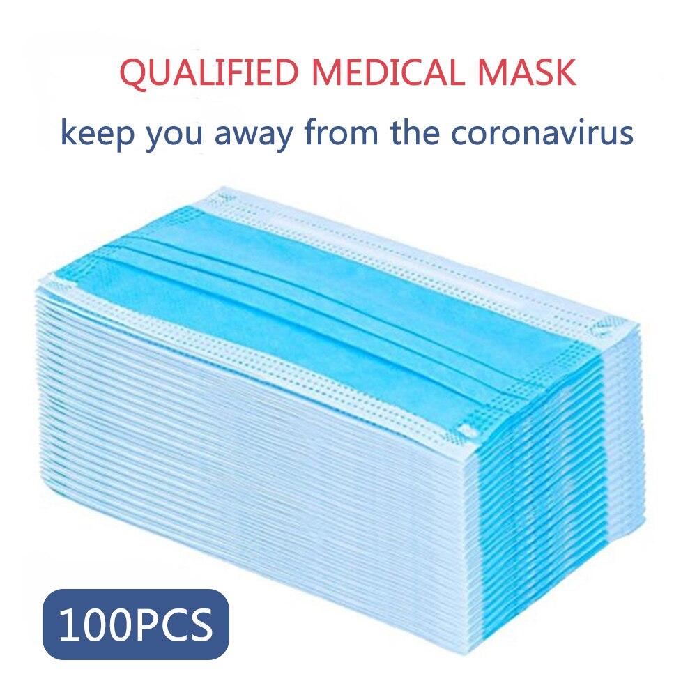 100pcs Disposable  Anti S Mask Mouth Korean Non   Face PM2.5 Anti Dust Coronas Mask