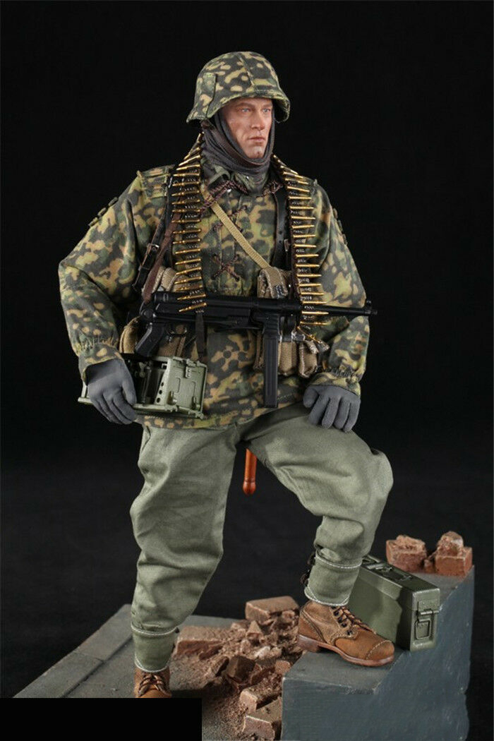 Full set Toy D80125 1/6th WWII German Panzer Division MG34 Gunner solider Figure Collection