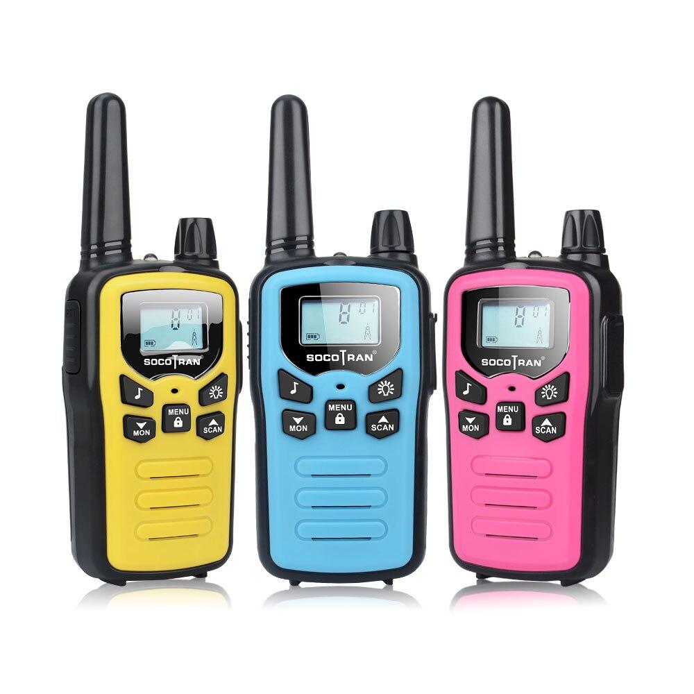 3 пары в упаковке микс Цвет PMR446 иди и болтай Walkie Talkie s детские SC-R60 3 миль мини ребенка pmr двухстороннее радио с Перезаряжаемые кабель