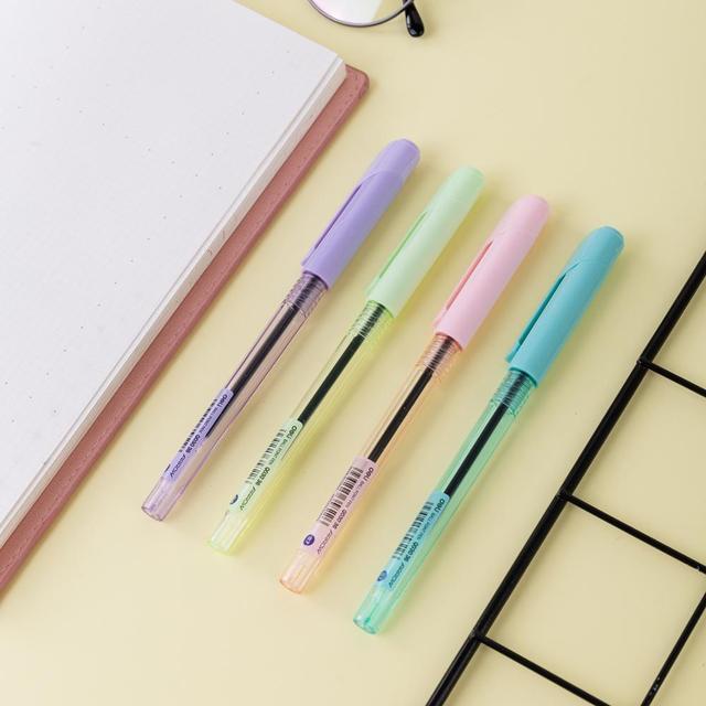 DELI Ball Point Pen 4 Pcs/Bag Color School Ballpoint Pen Mini tip 0.7mm EQ03032 5