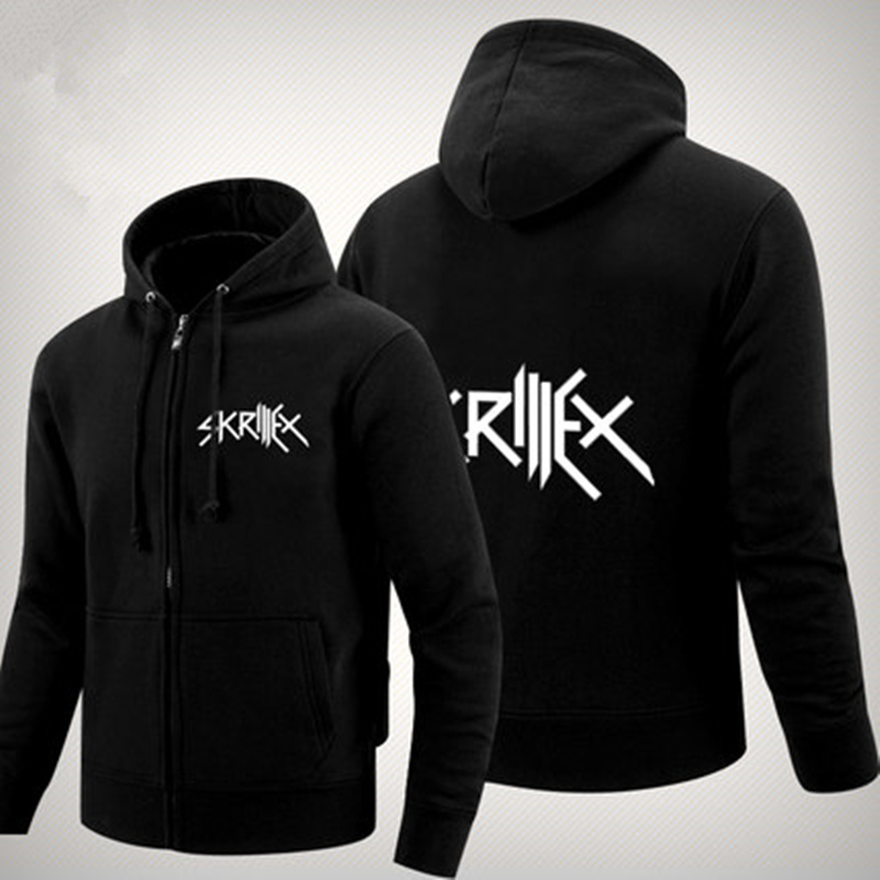 <font><b>Skrillex</b></font> <font><b>Hoodies</b></font> Jack U Diplo <font><b>Skrillex</b></font> DJ <font><b>hoody</b></font> coat new autumn warm <font><b>hoody</b></font> sweatershirt with zipper hip hop music jacket with fleece image