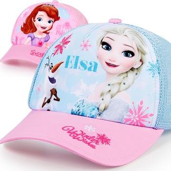 Original Disney Childrens Baseball Cap Spring, Summer And Autumn Girl Princess Hat Sunscreen Sunshade For Children SP60