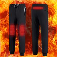 Windproof Unisex USB Electric Heated Pants Women Men Thermal Warm Hiking Pants Outdoor Heating Trousers Winter Sports Pants