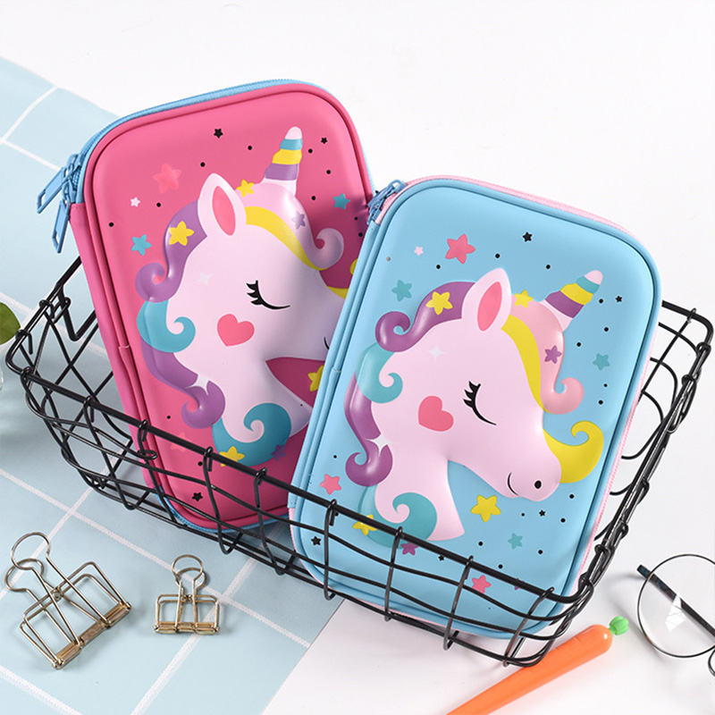 Unicorn Pencil Case High Capacity Pencilcase Stationery Box For Kids Gift Girls Waterproof Makeup Storage Box School Supplies
