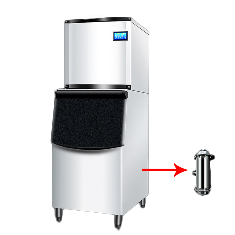 200kg/24H Commercial Ice Machine Automatic Ice Maker Ice Machine 140kg Storage For Bar Coffee Shop Milk Tea Room