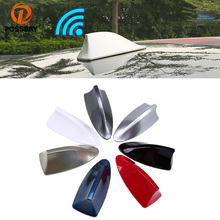 POSSBAY ABS Universal Car Roof Shark Fin Antenna Radio Signal Aerials AM/FM Amplifier for BMW VW Ford Renault Car Antennas