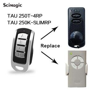 Image 1 - Klon TAU 433,92 MHz fernbedienung garage tor tür Für TAU 250T 4RP TAU 250K SLIMRP rolling code sender