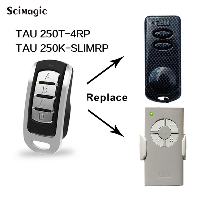 Klon TAU 433,92 MHz fernbedienung garage tor tür Für TAU 250T 4RP TAU 250K SLIMRP rolling code sender