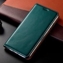 Babylon Style Genuine Leather Case For Huawei Honor V8 V9 V10 V20 V30 Pro Play Luxury Magnetic Flip Cover
