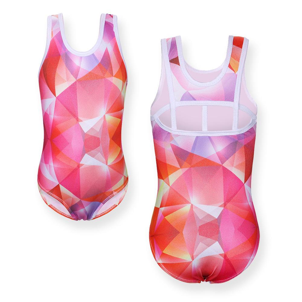 BAOHULU Girls Leotards Ballet Dance Gymnastics Zip-Front Lace Dancewear