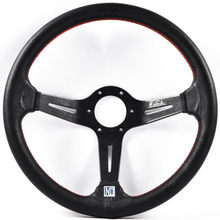 Auto Deep Dish Mais Flache Lenkrad 350mm 14 Zoll Leder Racing Lenkrad(China)