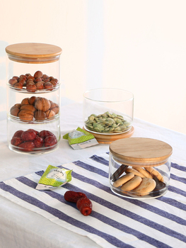 Heat-Resistant Glass Storage Tank Sealing Tea Free Stacked Multi-Layer Storage Dried Spices Food Storage Bottle 3