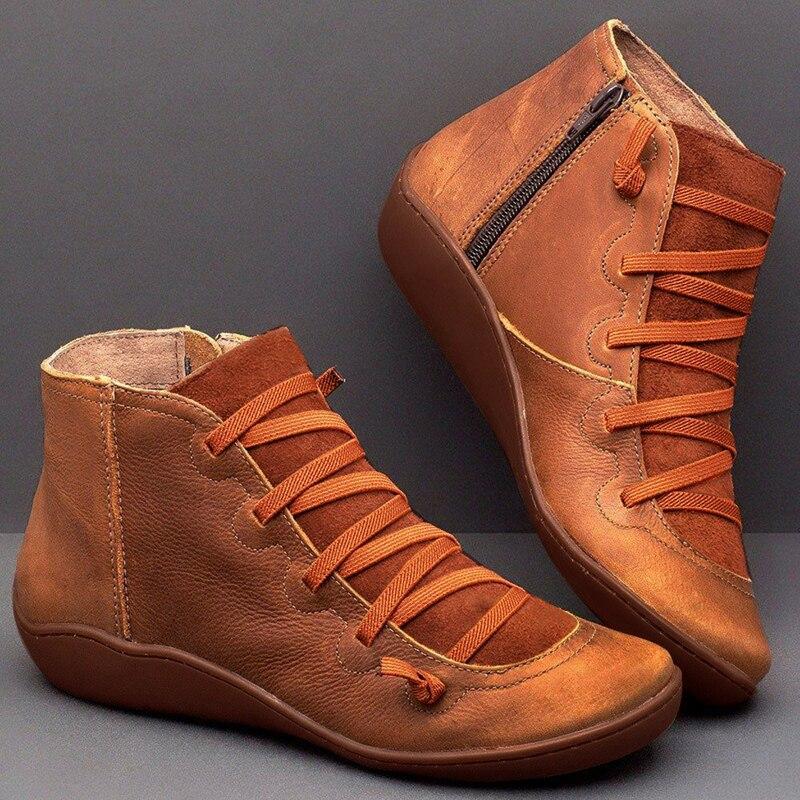 Botas 2019 outono inverno retro do punk botas femininas moda couro genuíno tornozelo botas zapatos de mujer wram botas mujer