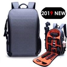 Su geçirmez fotoğraf makinesi sırt çantası moda stil Video DSLR naylon torba fit 15.6 inç Laptop Canon Nikon Sony için Tripod Lens SLR fotoğraf makinesi